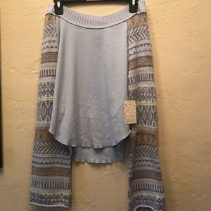 NWT Free People M Periwinkle sweater